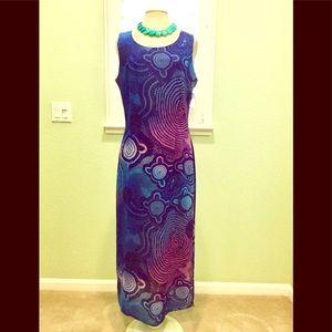 Imagio     Shades  of Blue and Purple Sheath Dress